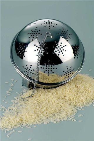 Reiskugel aus Edelstahl