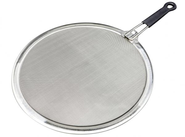 NEU: Spritzschutz mit einklappbarem Griff 33 cm / Edelstahl