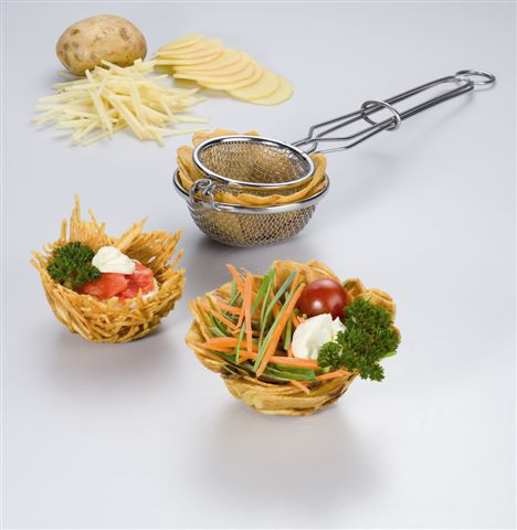 Nestbacklöffel für Kartoffelnester / Edelstahl