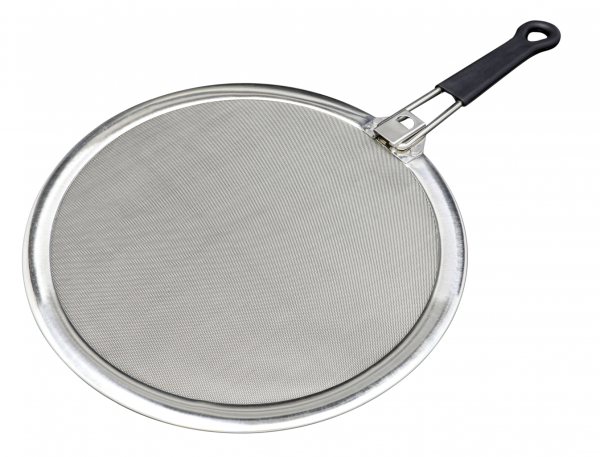 NEU: Spritzschutz mit einklappbarem Griff 29 cm / Edelstahl