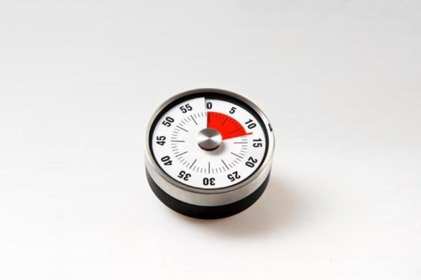 Kurzzeitmesser mit Restlaufanzeige / Edelstahl