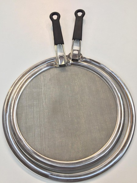 Spritzschutz mit einklappbarem Griff 29 cm / Edelstahl