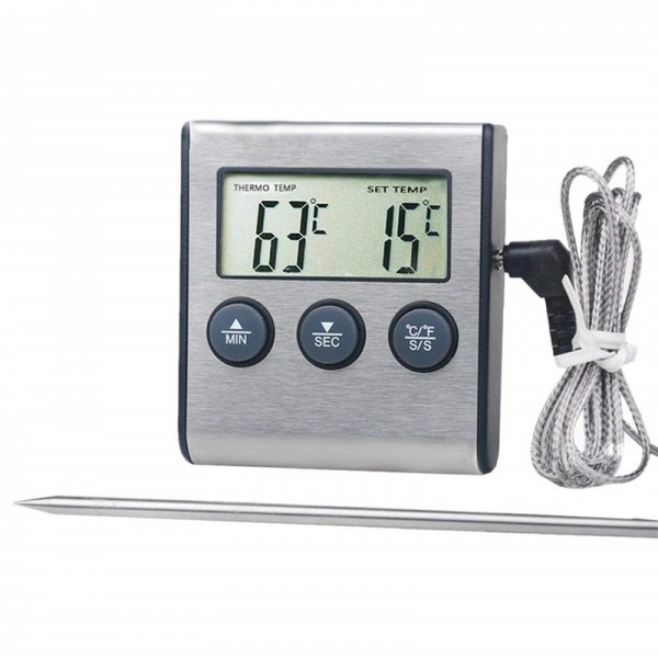 Digital-Bratenthermometer mit Timerfunktion